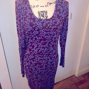 A Pea in A Pod Purple and Blue Leopard 🐆 Dress